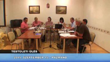 2015. szeptember 18. – Teljes adás – Pázmánd TV