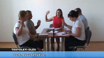 2016. augusztus 20. – Testületi ülés – Pázmánd