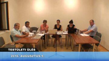 2016. augusztus 9. – Testületi ülés – Pázmánd
