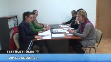 2016. január 28. – Pázmánd – Testületi ülés