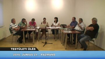 2016. június 21. – Testületi ülés – Pázmánd