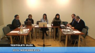 2016. november 29. – Testületi Ülés – Pázmánd