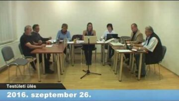 2016. szeptember 26. – Testületi ülés – Pázmánd – Élő adás