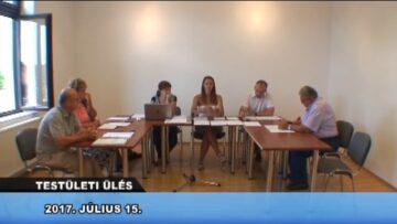 2017. július 15. – Testületi Ülés – Pázmánd