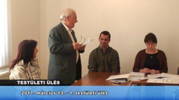 2017. március 13. – Testületi Ülés (1. ülés) – Pázmánd