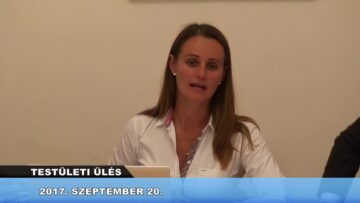 2017. szeptember 20. – Testületi Ülés – Pázmánd