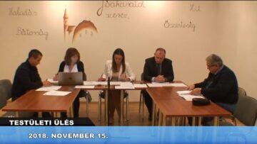 2018. november 15. – Testületi ülés – Pázmánd