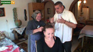 Menyecske kendő kötést tanultunk Kató nénivel – 2013. HD