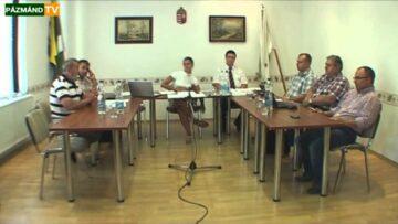Testületi ülés – Pázmánd – 2013. július 16.