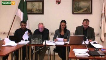 Testületi ülés – Pázmánd – 2013. október 11.