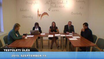2019. szeptember 19. – Testületi ülés – Pázmánd