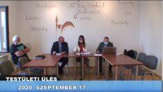 2020. szeptember 17. – Testületi ülés – Pázmánd