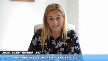2020. szeptember 25. – Pázmánd TV – Teljes adás