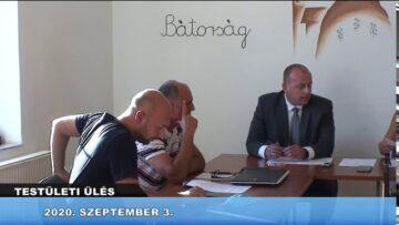 2020. szeptember 3. – Testületi ülés – Pázmánd