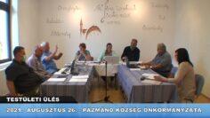 2021. augusztus 26. – Testületi ülés – Pázmánd