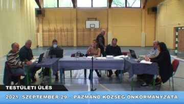 2021. szeptember 29. – Testületi ülés – Pázmánd